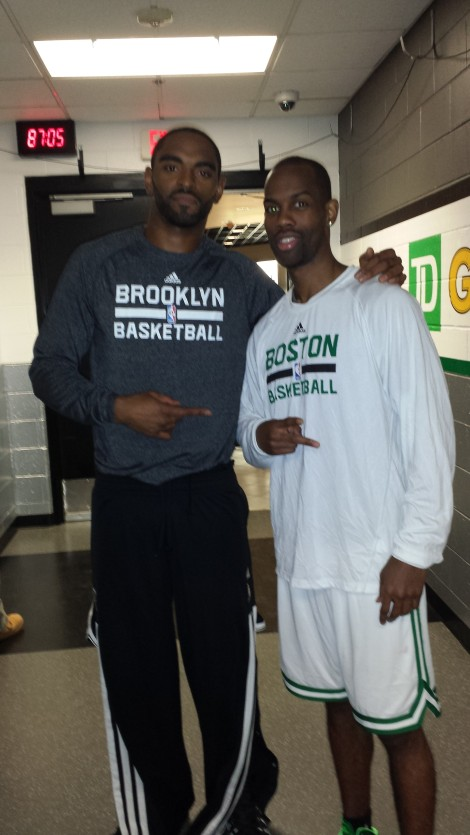 Alan Anderson (Nets) & Kam Taylor (Celtics) are both from Minneapolis. They grew up as rivals (friendly) in High School and College (Wisconsin & MSU)